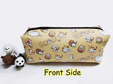 Game Neko Atsume Cat Backyard Anime PU Pencil case Phone Bag Coin Purse Cosmetic