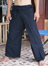 Thai Fisherman Trousers Pants Yoga Samurai Kung Fu Tai Chi Boho Maternity Black