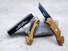 """8"""" Army Spring Assisted Opening Tactical Rescue Folding Pocket Knife"""