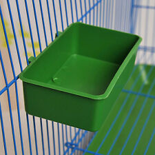 Plastic Cup Bird Parrot Pet Cage Aviary Water Food Bowl Feeding Bathing Supplies