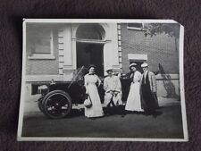 VTG PHOTO OF TWO COUPLES IN BEST RIDING CLOTHS IN FRONT OF THEIR FANCY CAR