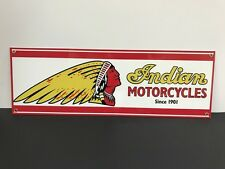 Indian motorcycle  advertising sign baked