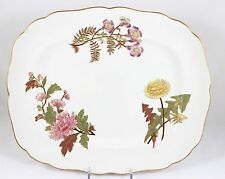 FINE ANTIQUE HAND PAINTED GILT FLORAL OVAL PLATTER 2 ROYAL WORCESTER CHINA W1701