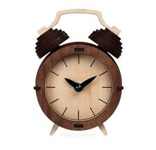 Wood Retro Classic Table Clock Assembly Kit Korean Desk Bedside Homeoffice CLOCK