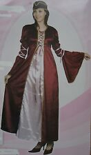 MEDIEVAL LADY COSTUME WOMANS TUDOR LADIES  FANCY DRESS