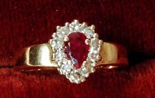 14kt 2.6gr Yellow Gold Ring Diamond & Ruby Design w/10-3pt Diamonds & Ruby.