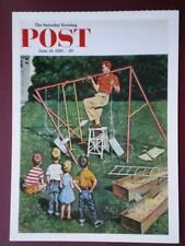 POSTCARD ADVERT SATURDAY EVENING POST F/PAGE  DATED 16 JUNE 1956  - THE JOY OF P