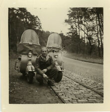 PHOTO ANCIENNE - VINTAGE SNAPSHOT - VESPA SCOOTER VOYAGE - TRIP