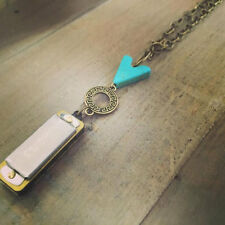 Harmonica Necklace Mini Harp Working Boho Music Medley Jewelry Pendant