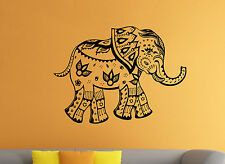 Indian Elephant Vinyl Decal Asia Animals Wall Sticker Atr Home Wall Decor (21ie)