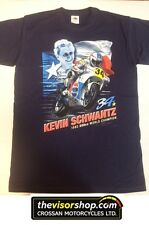 """Kevin Schwantz #34"" 500cc World Champion 1993  T-SHIRT - Blue - XL"