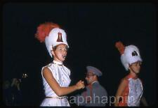 Pretty Majorettes Whistle Shako Hats Drum Major Vintage 1950s Slide Photo