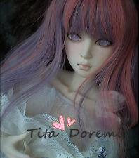 1 3 8-9 Bjd Wig Dal Pullip BJD SD DZ DOD LUTS Dollfie Doll wigs long pink purple