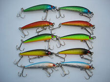 10 x MINNOW ESCHE ARTIFICIALI  5,5  cm RATTLING no rapala  BASS LOTTO SINKING