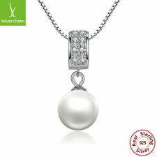 Romantic White Pearl Dangle Pendant Necklace With 925 Sterling For Women Fashion