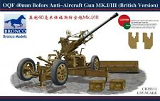 Bronco Model kit 1/35 British Army OQF Bofors 40mm Anti-Aircraft Gun Mk.I/III