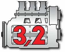 Porsche Vintage 911 3.2 engine vintage Sticker Decal