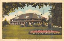 ROLLER SKATING RINK BOB-LO ISLAND PARK CANADA ACTRESS MESSAGE POSTCARD 1942