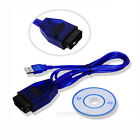 New KKL VAG-COM 409.1 OBD 2 II USB Diagnostic Cable Auto Scanner Tool Interface
