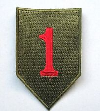 "Patch US 1st INFANTRY div. big Red One ""cut edge"" WWII Normandie  - REPRO"