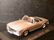 MERCEDES BENZ 230 SL CABRIOLET W113 SILVER METAL 1963 RBA COLLECTABLES 1/43