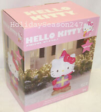 Gemmy 3.3Ft Hello Kitty Lighted Airblown Inflatable Christmas Holiday Balloon 1M