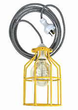 lighting fixture 'Hello' pendant lamp hanging light cloth cord cage trouble kit