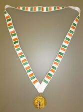 IRELAND OLYMPIC MEDAL - Gold Olympic Style Medal with Irish Lanyard (MI3)