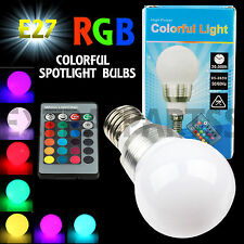 3W E27 LED RGB Magic Light Bulb 16 Colors Changing With Wireless Remote Control