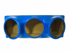 Triple 10 fiberglass sub woofer speaker box enclosure carpeted MDF case BLUE