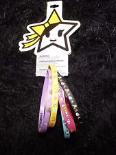 new Neon Star set of 5 rainbow rubber bracelets fashion jewelry tokidoki Kawaii