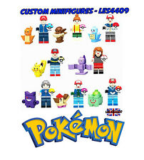 8pc Pokemon Custom Minifigure Set | Pikachu | Monster + FREE LEGO BRICK UK