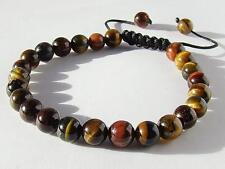 Men's Shamballa bracelet all 8mm   TIGER EYE  beads