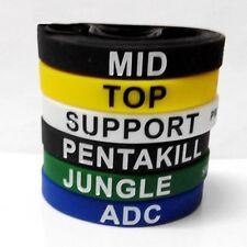 New6PCS LOL League of Legends ADC Jungle Support Top Mid Penta Bracelets Hot