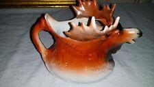 """Antique Porcelain Ceramic Moose Elk Creamer Pitcher 6"""""""