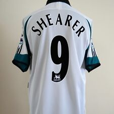 Newcastle United Away Football Shirt Adult Large SHEARER #9 1999/2000