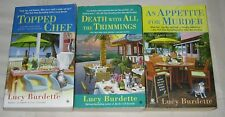 LUCY BURDETT lot of 3 Cozy Mystery PBs KEY WEST FOOD CRITIC Topped Chef MORE