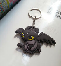 How To Train Your Dragon Toothless PVC Pendant Metal Key Ring Chain NEW
