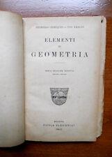 Enriques Amaldi ELEMENTI DI GEOMETRIA Zanichelli 1932 matematica