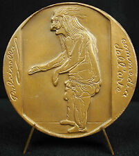 Médaille Carle Charles André van Loo polichinelle Comédia Dell' Arte 1967 Medal
