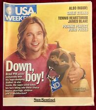 BRAD PITT USA WEEKEND MAGAZINE COVER • June 20, 2003 • MINT