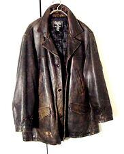 Vtg Distressed Eddie Bauer Antique Brown Supernatural Winchester Coat Sz 2XL 3XL