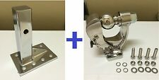 "5 Ton STAINLESS STEEL 304 PINTLE 2 5/16"" BALL TOW HITCH +  Adjust Plate"