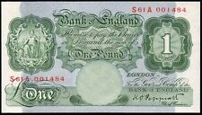 B260 PEPPIATT 1948 £1 BANKNOTE * S61A 001484 * FIRST SERIES * UNC *