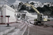 801044 Demolition Of Beach Cafe On The Sea front Promenade England A4 Photo Prin