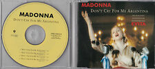 MAXI CD 4T MADONNA DON'T CRY FOR ME ARGENTINA (EVITA) DE 1996 GERMANY