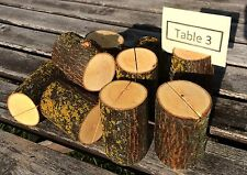 25 Log Maple Wood table number place card food tent food label stands holders