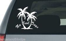 NO BAD DAYS PALM TREE CUT VINYL DECAL BEACH LIFE TROPICAL PARADISE COAST 5 INCH