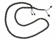 Large 99-Bead Tasbih Hematite Stone 8.5mm Round Bead w/ Place Marker Prayer Bead
