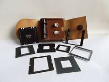 MINT Meopta Flexaret V, VI & VII adapter for use 6x4.5cm + 35mm film + case